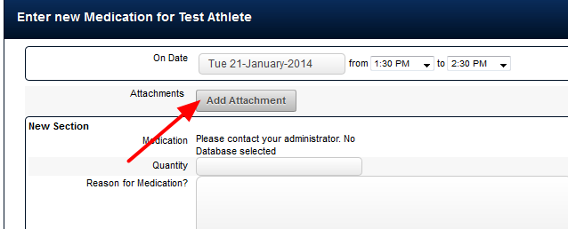 To Upload a New Attachment Resource, click on the  Add Attachment button that you would normally select