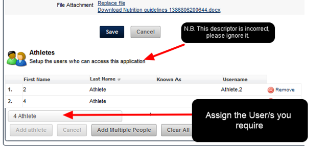 The example shows Users being assigned to this Resource.