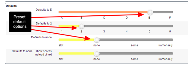 "If a ""Default Value"" option is set, this will automatically be selected when new data is entered into the Event Form"
