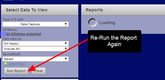 The Report will still be set up. Simply click Run Report Again, wait for it to load any un-deleted records, then click on the Delete All button again