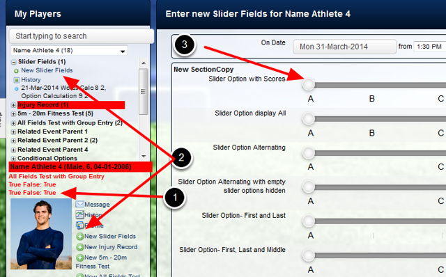 Their details will load in the Sidebar, and you can enter in new data, or review their existing data