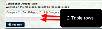 The Default Number of Blank Table Rows appear on the main application