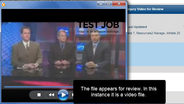 The file will open and can be viewed based on the supporting software you have on your system