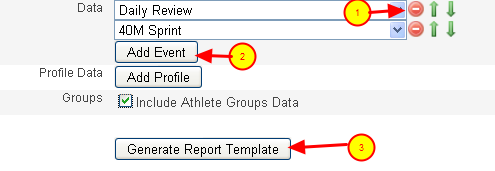 Select the Data to include in the Report