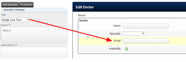 """If iCals need to be sent to a user associated with a specific Related Entity Record (e.g. during Publishing), then a Single Line Text field called """"Email"""" needs to be added into the Structure of the Related Entity"""