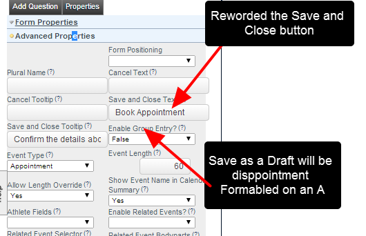 As outline in the step above, update the Advanced Properties of the Form
