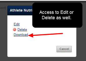 "If the user has access to the ""Manage Resource"", then the Edit and Delete buttons will also appear alongside the Download button"