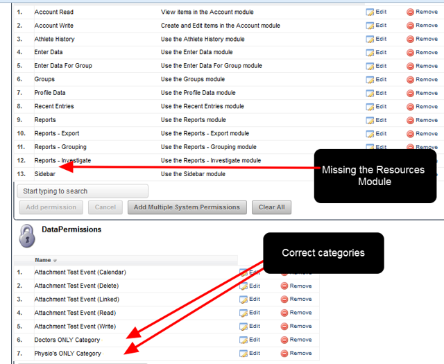 To access Attachment-Resources the user MUST have access to the Resources Module AND the Category they are stored in