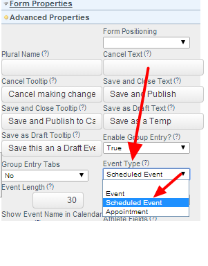The Form Type needs to be set up as a Scheduled Form in the Form's Advanced Properties