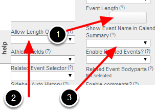 Set up the Additional Scheduling Properties: Event Length, Allow Length Override and Show Name in Calendar Summary