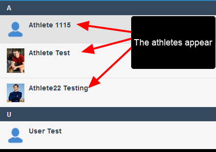 The athletes will be available to enter or review data for