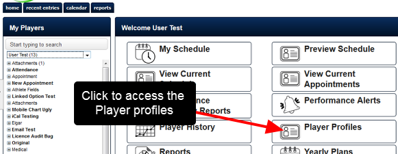 "If a user has access to the ""Edit Athlete Accounts"" system permission, they can edit the account information online through the Profile Pages"