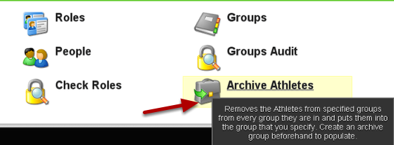 To archive the athletes, go to the Archive Athletes Button on the Admin Page