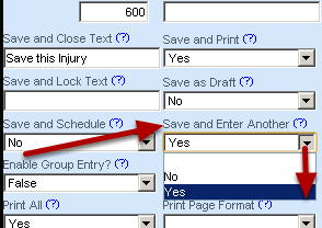 Save and Enter Another allows you to Save the event form and then select a different event to enter for a different athlete/group of athletes