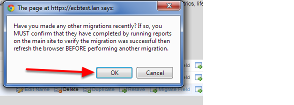 If you have done any OTHER Migrations you MUST check that these are completed