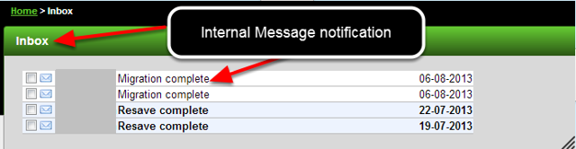 Wait until you get a notification via e-mail or internal mail, then check the data has migrated safely