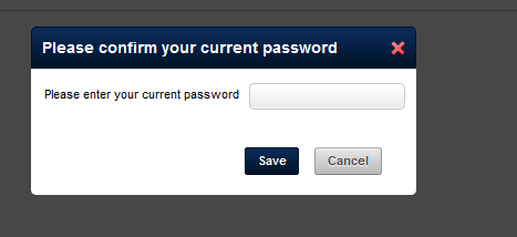 For additional security purposes, once a coach clicks Save, they will also need to Confirm their password