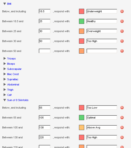 The Performance Standard shown here will automatically be selected to colour the event based on any filters or settings