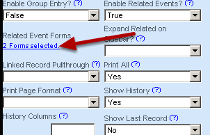 The number of forms you selected will appear on the blue link on the Advanced Form Properties section now