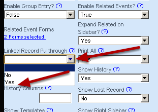 "To set up data flow FROM the event (e.g. illness/injury record) TO the related events (e.g. medications or screening): on the Injury and Illness Form, enable the ""Linked Record Pullthrough"""