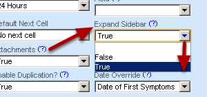 To set up the sidebar to expand when you click on a record (as shown in the image in the step above), set up the Expand sidebar to True