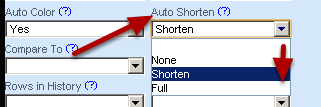 To shorten the form where fields use the same start (as shown in the image in the step above) set the Autoshorten to Shorten