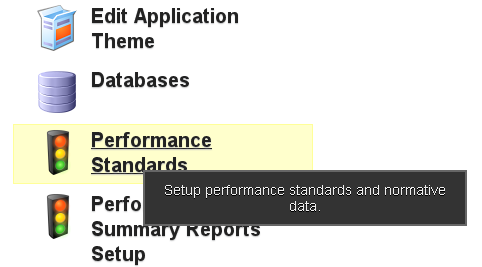To have the coloured fields appear in the background of the chart or the athlete history this is easily set up on the Performance Standards Module on the Builder. See the Lesson on Performance Standards to find out how to create them.