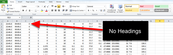 Ensure you have an example of the raw data that is exported from the device