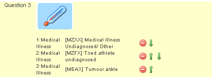 The OCIS Medical Diagram will provide you with the list of Medical Illness codes to enter. Again you need to specify the maximum number of items