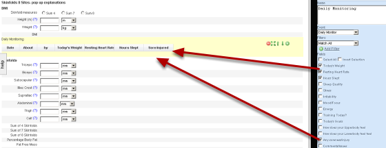 Tick the fields that you want to show in the form. The fields will appear as column headings and show in the Form overview on the Left of the page
