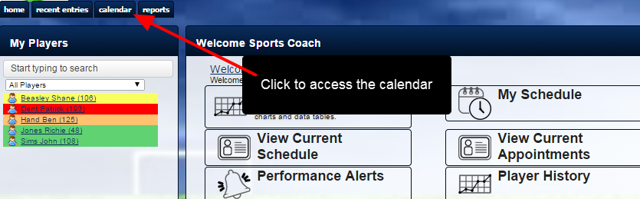 To download an iCal for a specific period, go to the Calendar Page