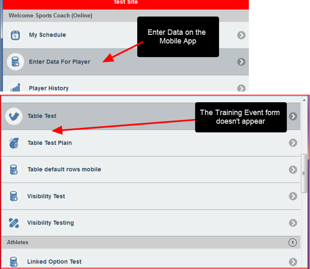 Because the Mobile App cannot detect conflicts in availability for Appointments and Schedule forms, these forms are NOT available for entry on the Mobile Apps