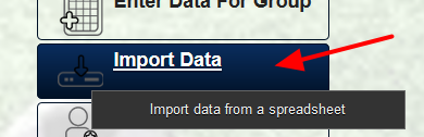If your users have and ID, this can be used during the import process: Click on Import Data