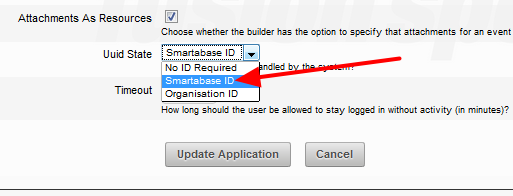 2. Smartabase ID will AUTOMATICALLY assign a unique ID code to each user. This ID is not configurable.
