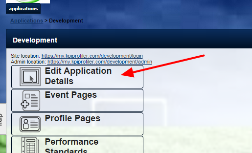 On the Application Details Page, the Type of ID needs to be set. It will default to no ID.