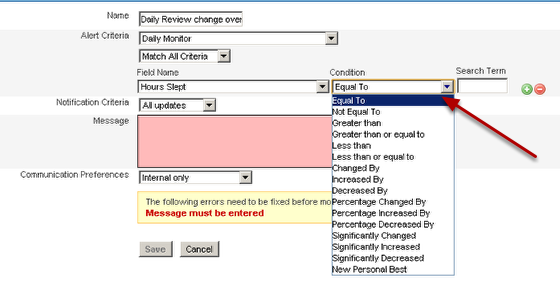 For very specific performance alerts and you may need to set up specific fields in your form to calculate historical information to get the most from the performance alerts