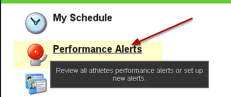 No go back to the application and set up the performance alerts you require based on these historical calculations