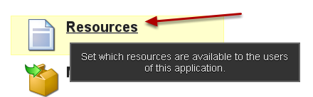 Go the the Resources section