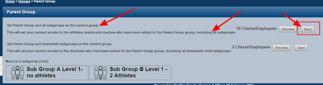 Make sure you choose to load this group and all subgroups as the current group