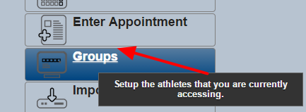 On the Group Page, you will need to load/view the main group that has the subgroups in it that you want to enter data for