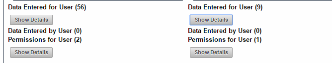 See whether data has been entered by them. In this example, neither user has entered data for other users (which may indicate they are both athletes)
