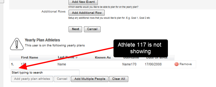 Yearly Plans are NOT assigned to the original user. They will need to be reassigned manually.