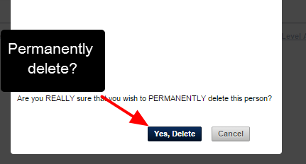 You can still choose to delete the user, but if you delete them you WILL be permanently deleting all of their data on the system, and you cannot get it back