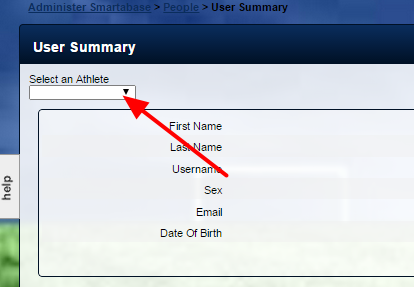 Now select the User to View. You can select by Name or by ID and just click and type in the name or ID