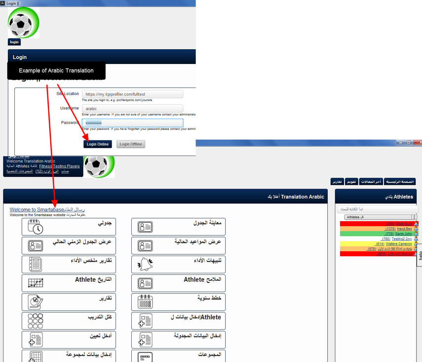 The installed online will also appear translated into the selected language