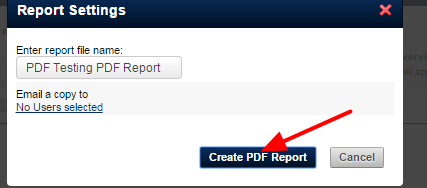 Generate the report