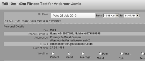"""6c As you can see here the 5 """"Personal Details"""" fields have been added to an event form (multiple phone and addresses will even show). For Security please note that you DO NOT set access for these fields on the Admin Site, so if the user can access the form you pull this data into, they can view this information."""