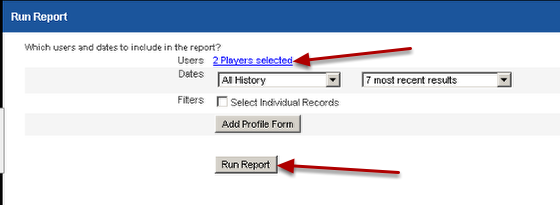 The report template will be saved. In this example, we created a template to have one report per athlete. When we run this report for multiple athletes, a separate excel file will be created for each athlete as part of a zip file.