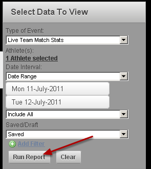Run a report on the Reports Module to include the data, or type of data that you want to use