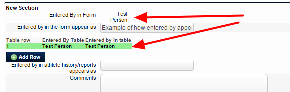 New Entered By's will appear as First Name and Last Name
